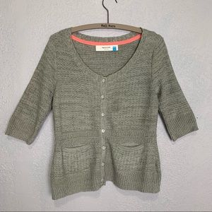 Anthropologie Sparrow gray button front cardigan